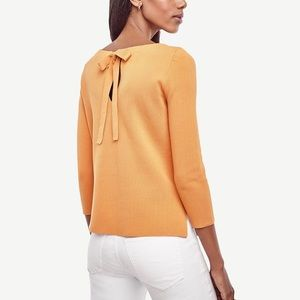 ANN TAYLOR   Bow Back Sweater 100% Cotton